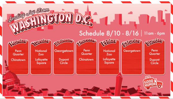 Good Humor Welcome to Joyhood Schedule DC