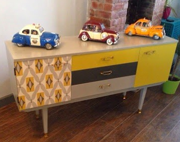 Remade Hour On Twitter Love This Bright 70 S Upcycled Sideboard