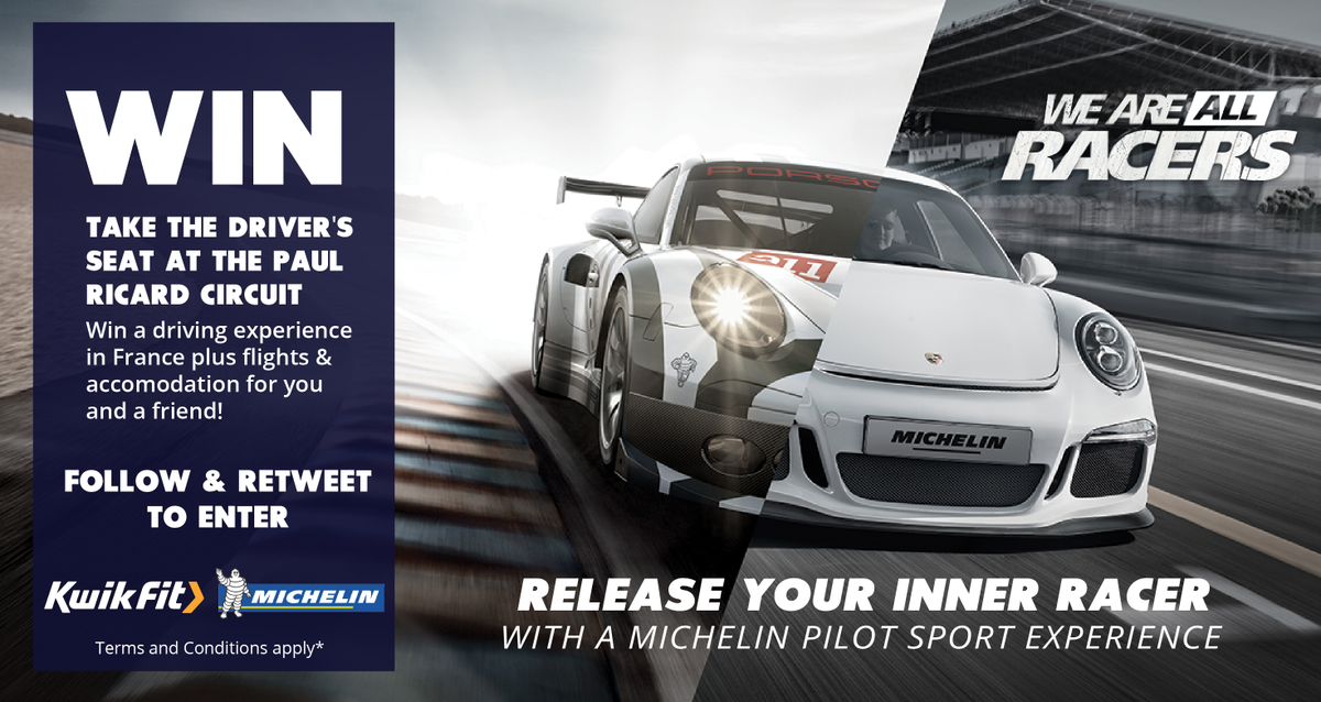 #WIN an unforgettable @MichelinTyres #driving experience in France. RT & Follow to enter T&C's http://t.co/RxVNFztTP8 http://t.co/3l8ItwmKvs