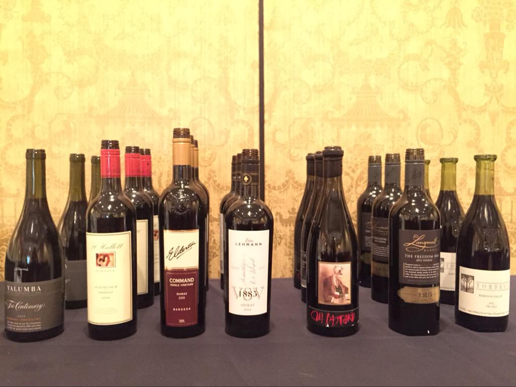 US: Excellent lineup at the @BarossaDirt old vine classification seminar #SWEconf2015 #aussiewine http://t.co/PeNpuZLwXP