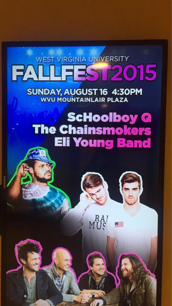 Oche Oche Obe On Twitter Wvu Fallfest 2015 Schoolboy Q The