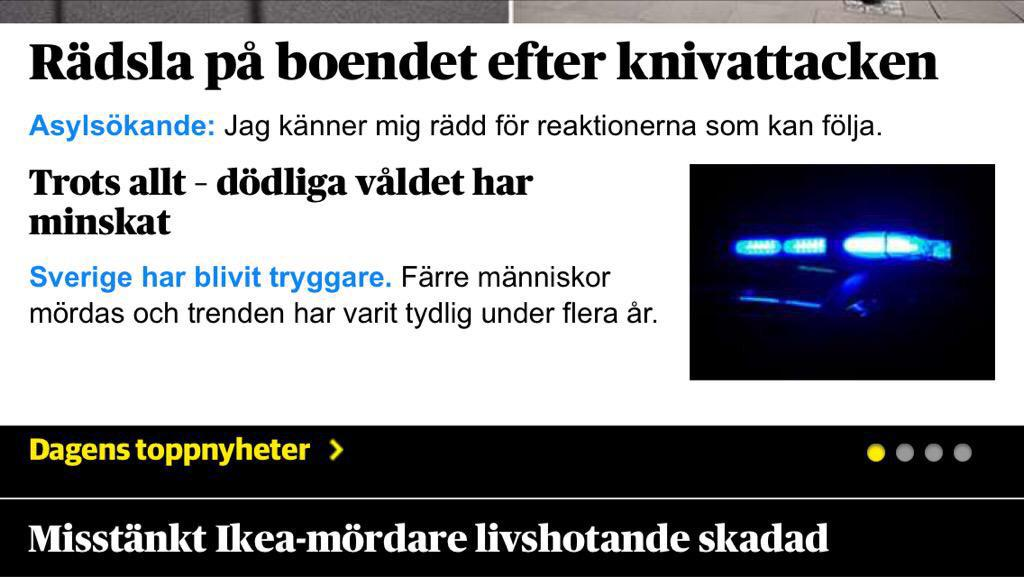 Tänk dig att du är anhörig till de mördade och går in på DN.se. Då är det dessa tre rubriker du möts av. http://t.co/UR6r2TuoEk