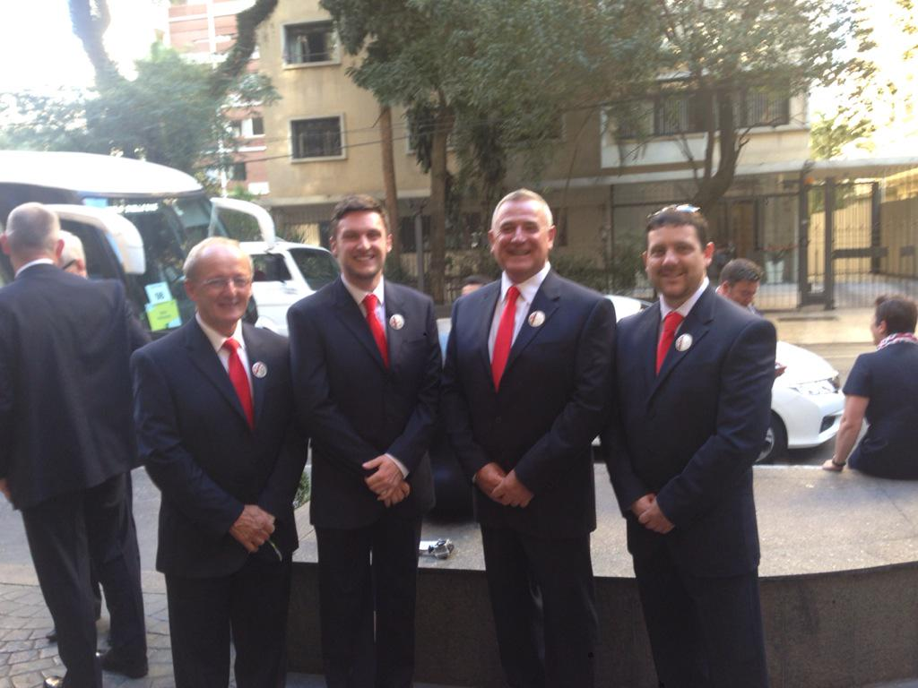 @WorldSkillsUKW @ISEinWales Welsh Training managers ready for the opening ceremony in São Paulo Brazil! #gowsteamuk http://t.co/G4WT3q8vqG
