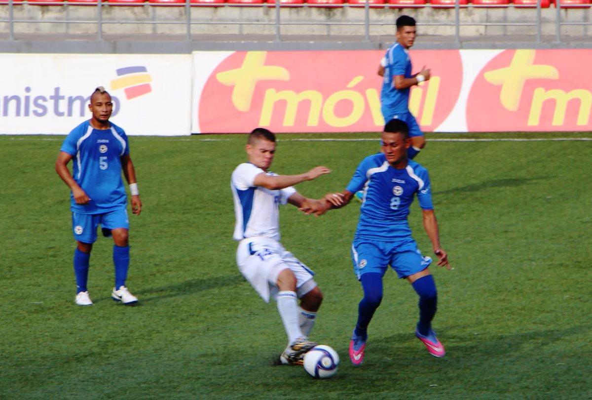 Eliminatorias UNCAF 2015 - Olimpicos Brasil 2016: El Salvador 1 Nicaragua 1. CMLLQR_UMAA1sZB