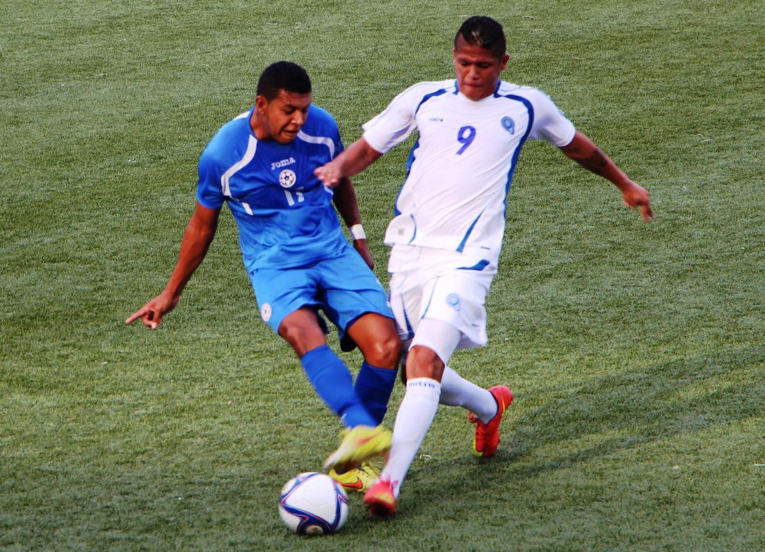 Eliminatorias UNCAF 2015 - Olimpicos Brasil 2016: El Salvador 1 Nicaragua 1. CMLLedpVEAAPxaA