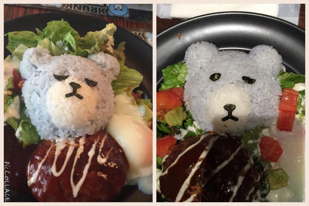 左のベアわ友達が大阪のカフェで食べたやつ右のわ東京のカフェでわたすが頼んだやつ全然ちげうベア😂😂😂😂😂😂コレわ全くちげうベア😂😂😂😂 pic.twitter.com/mkhfUVYcN7