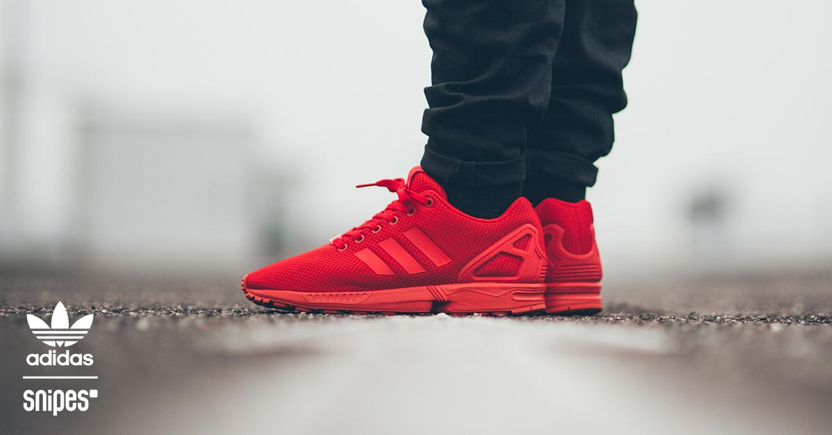 3932e22e8e4e ... coupon code for snipes on twitter der adidas zx flux in all red schnell  sein denn