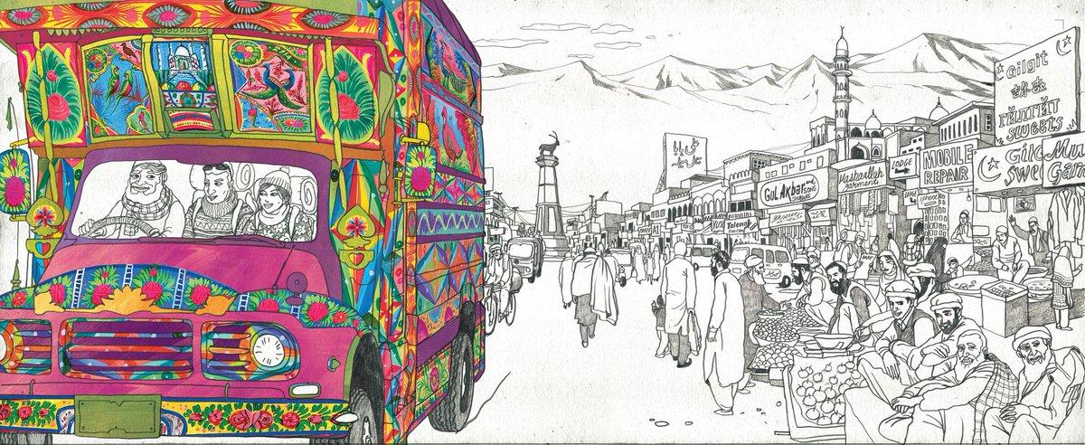 Truck Art Of Pakistan Drawing