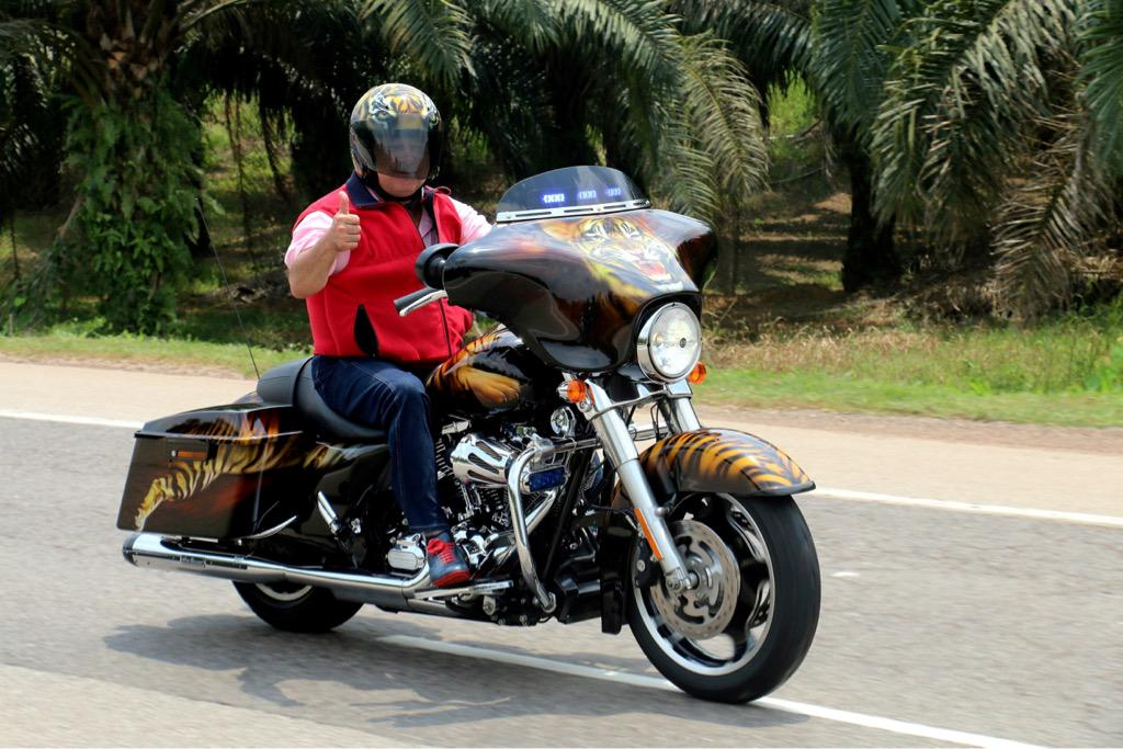 Image result for Sultan Ibrahim of Johor on his Harley Davidson