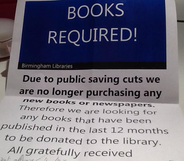 Birmingham have built an amazing new library. But there's a snag. This actually makes me really angry. http://t.co/X97asdbMeQ