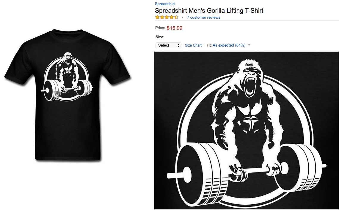 Timeless Design A1467 40f81 Gorilla Lifting Weightlifting By Strong