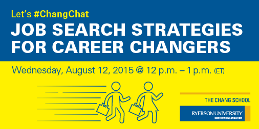Follow the #ChangChat hashtag from 12 to 1 (ET) today for #JobSearch tips and resources for #career changers. http://t.co/MQhKKnzPUQ
