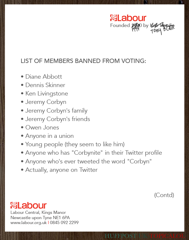 Reminder of those banned from voting for Labour leader #LabourPurge  (done for @huffpostukcom) http://t.co/GWP8FqNMgc http://t.co/fweSmxrJFt