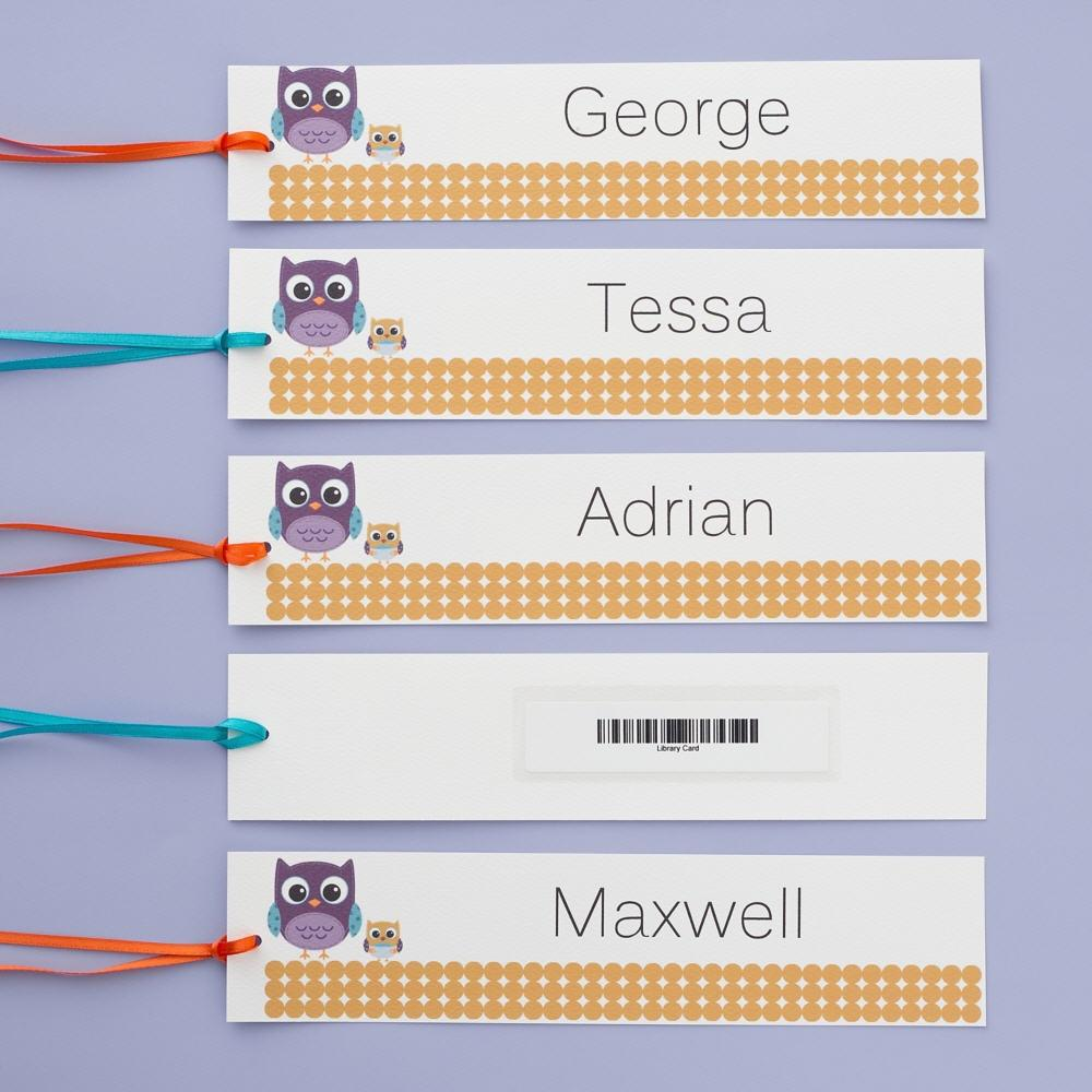 avery on twitter classroom hack personalized bookmarks wscannable library barcode on back wavery menu cards httptcoskfqrnmfdp