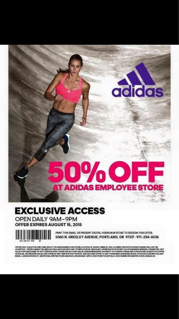 free adidas employee store pass 2016