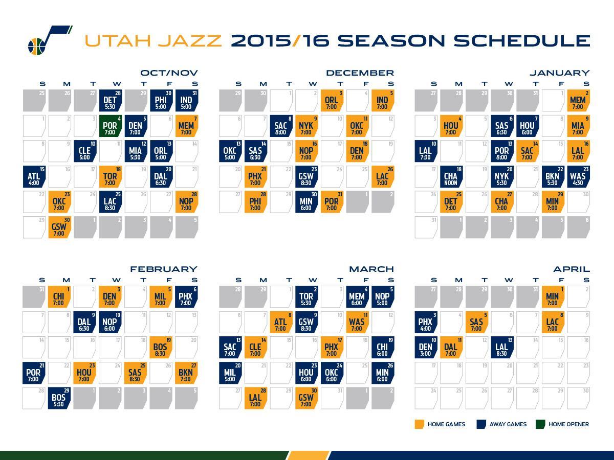 photo relating to Utah Jazz Schedule Printable called Utah Jazz upon Twitter: \