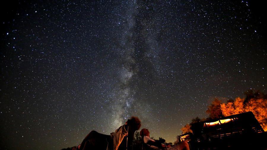 смотрят на звездное картинки люди небо