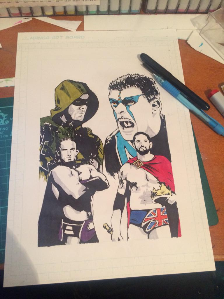 Just finished colours. @amellywood @WWENeville @StardustWWE @WadeBarrett http://t.co/YXx7QOZsoc