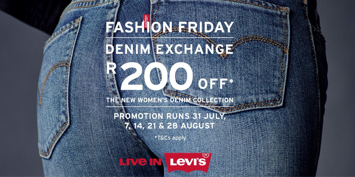 Exchange your jeans at a Levi's Stores&we will donate them to @Tomorrow_Trust. PLUS we'll give you R200off a new pair http://t.co/udpnVP1Cos