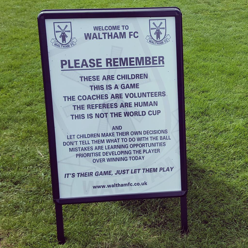 Lots of these signs about but @WalthamFC have added a great few words at the end. Every club should have these! http://t.co/70zgoJtngq