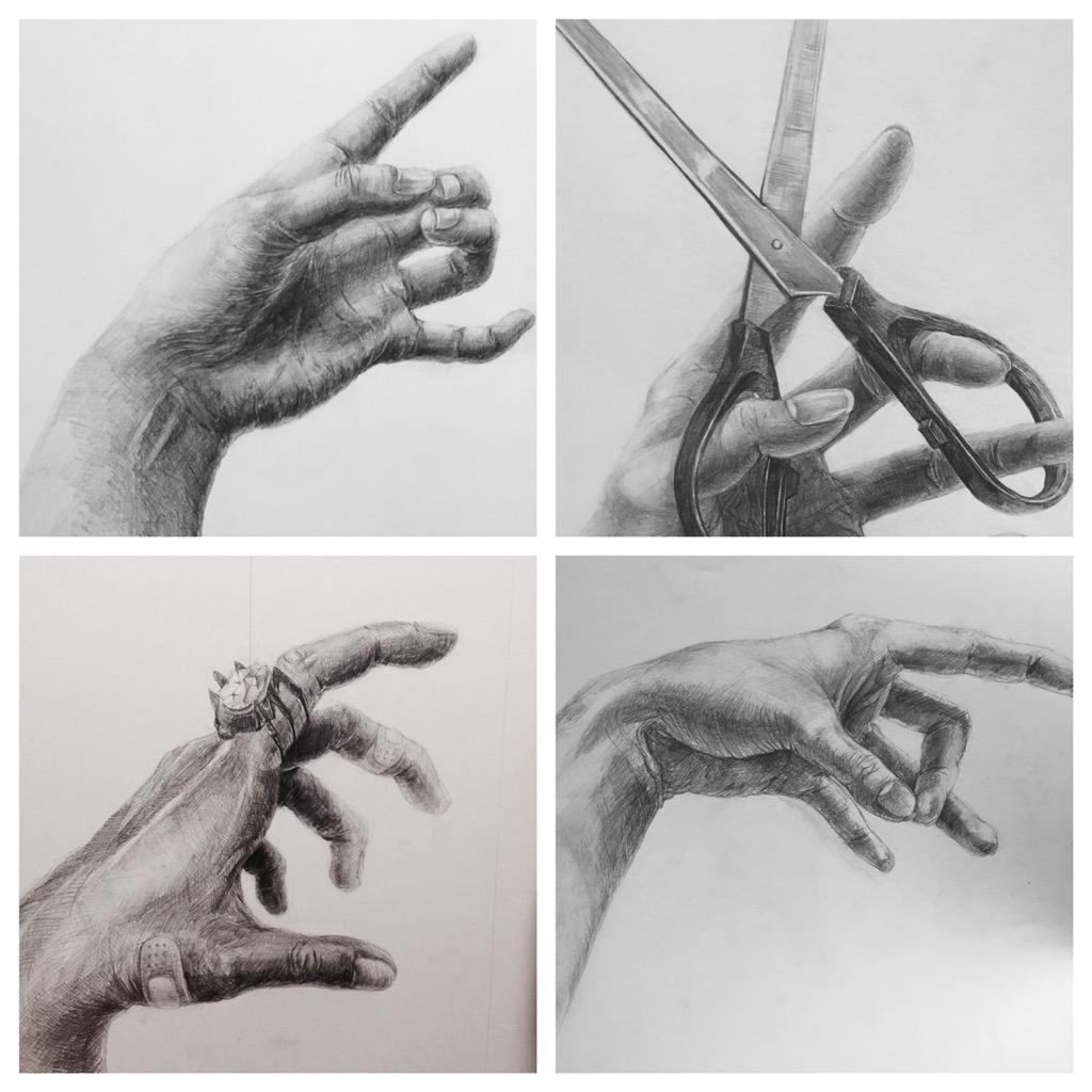 手 の デッサン コツ