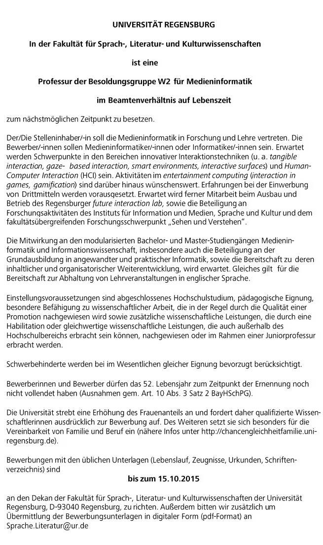 Psychologie B Sc Universitat Regensburg