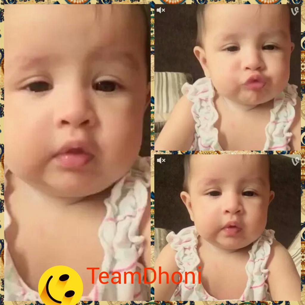 "team ms dhoni #dhoni on twitter: ""cute expression of baby ziva. just"