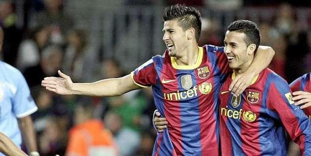 Nolito And Pedro At Barcelona