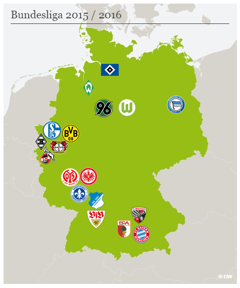 Bayern Germany On Twitter The Bundesliga 2015 16 Map Http T Co 4hyep1k8vl