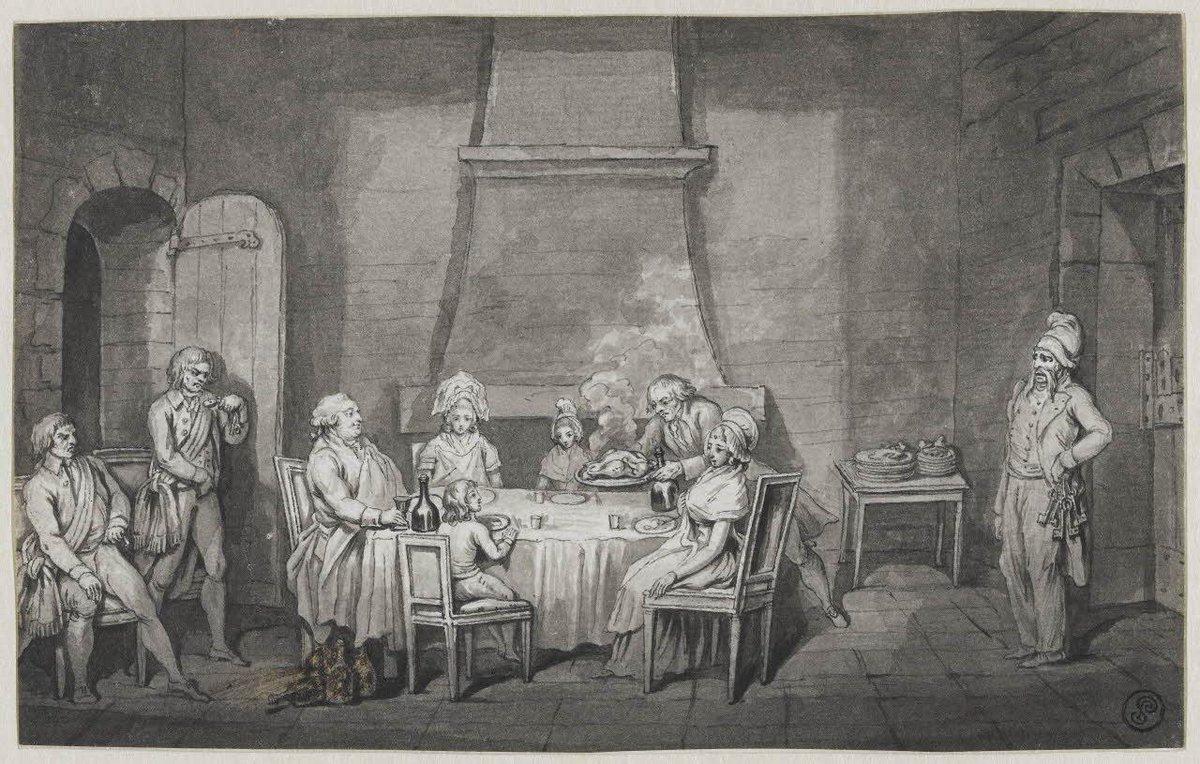"""Musée du Louvre on Twitter: """"Le #13août 1792 : """"Premier repas de Louis XVI  et de sa famille dans la prison du Temple"""" #OnThisDay #ArtsGraphiques  http://t.co/ygiubHcRxk"""""""