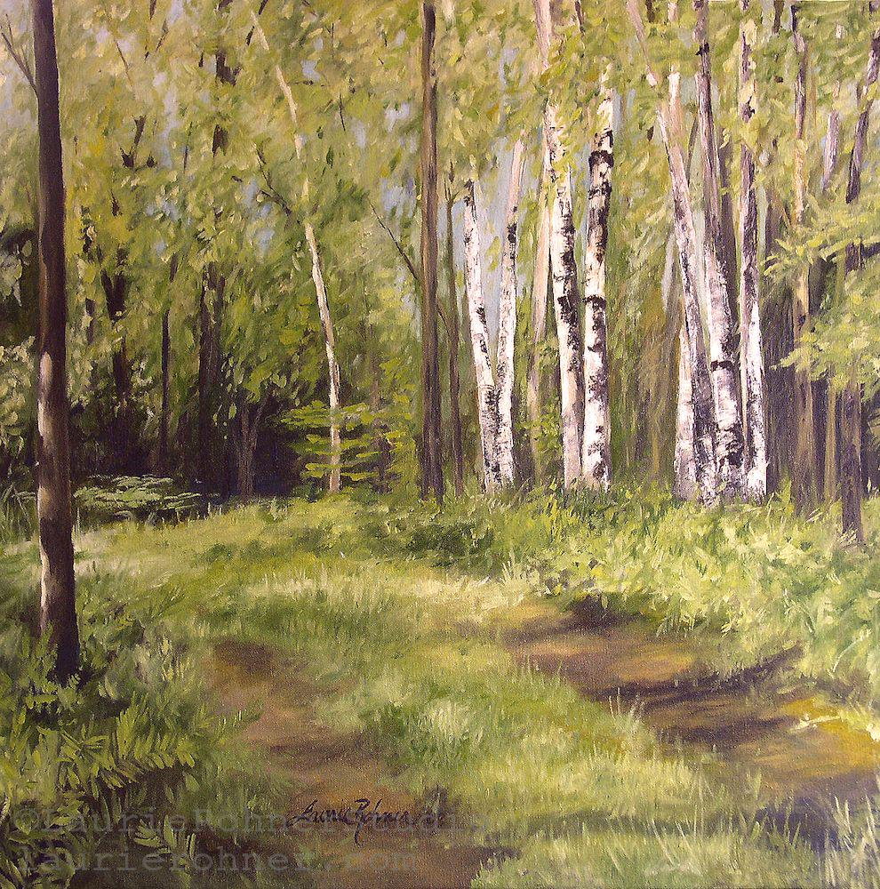 #Nature #Art You could never be in a bad mood sitting under a tree in nature. #BetweenTheWeeds http://www.laurierohner.com/store/c2/Original_Paintings.html#.VczBTwamZlc.twitter…