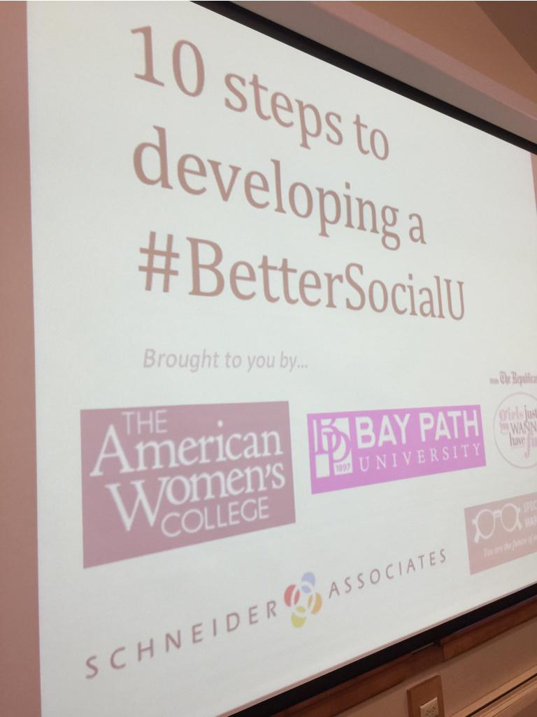 This is about to go down. #BetterSocialU cc @AmWomensCollege @daniellergerard @tyrona @SA_launch http://t.co/gLzS7IZuRv