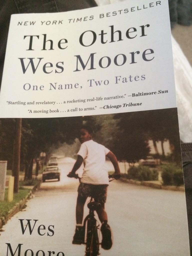 my son's req'd reading for the summer, but he's going to have to wait. I can't put it down. @WesMoore1 #amreading http://t.co/TBPzIGFhNF