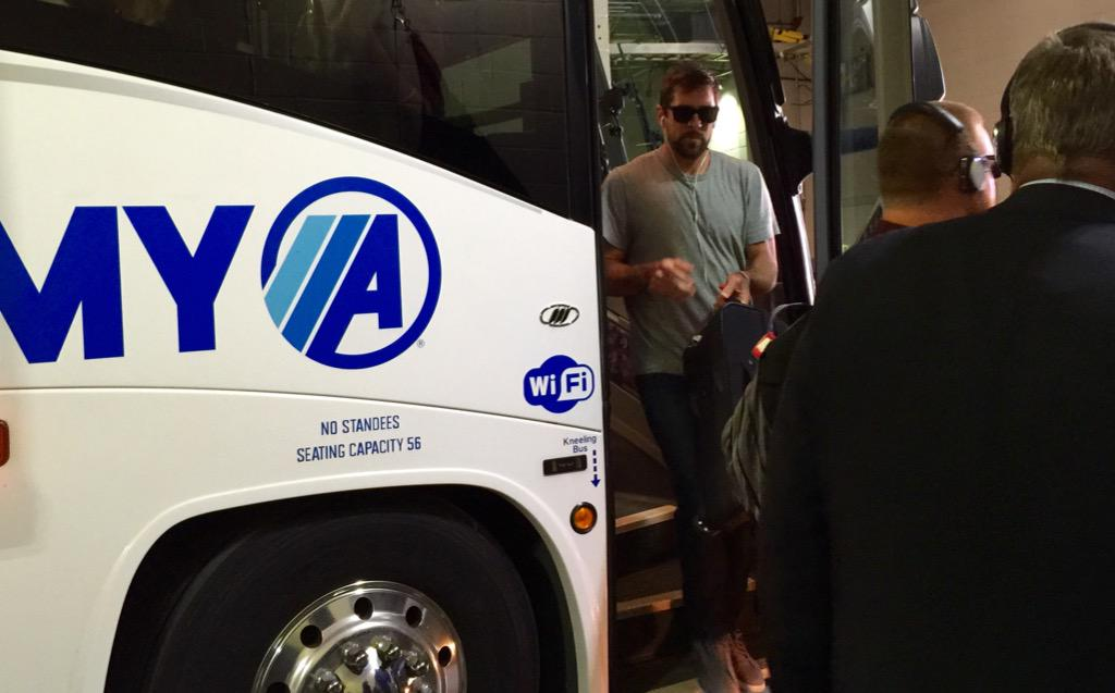 Pulling into Gillette Stadium. #PackersBusinessTrip #GBvsNE http://t.co/XKH3UJGlZu
