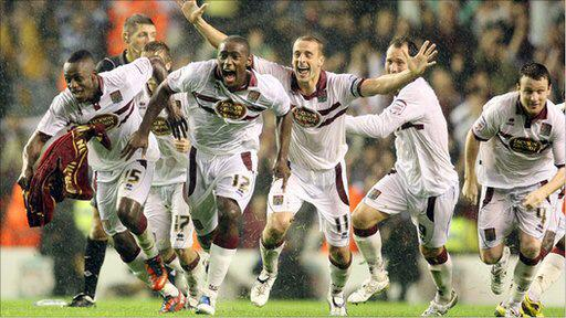 The last time Cobblers played a Premier League team away in the League Cup... #ntfc http://t.co/hIYU2kEm9M