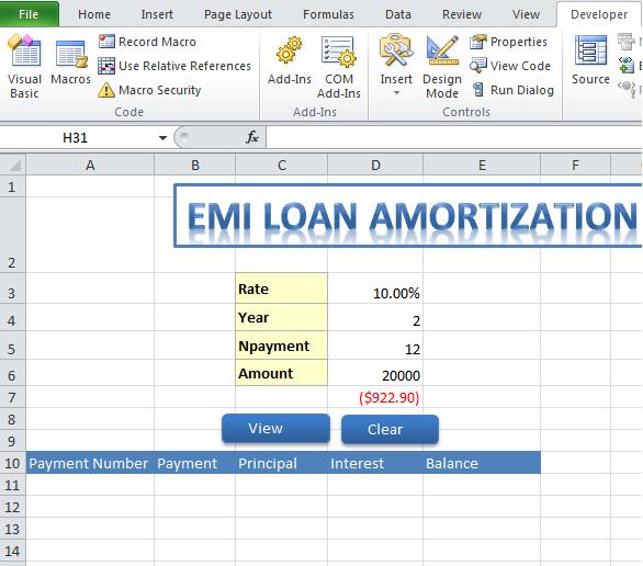 c corner on twitter emi loan amortization in microsoftexcel by