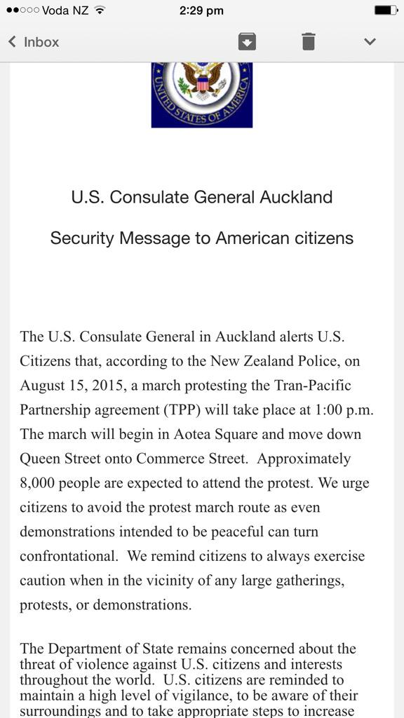 Got this email from U.S. Consulate warning to stay away from #TPPANoWay march tomorrow. Um, srsly? #scaretactics http://t.co/XD7glkIST4