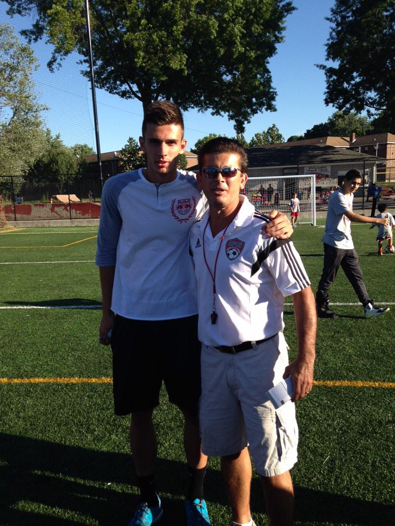 Thank you to Matt Miazga from NY Redbulls for coming to visit on our last day of summer camp.