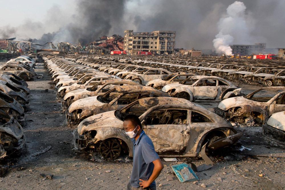 Le esplosioni di Tianjín in Cina come Terremoto M2,3 e 2,9 (nuovo VIDEO)