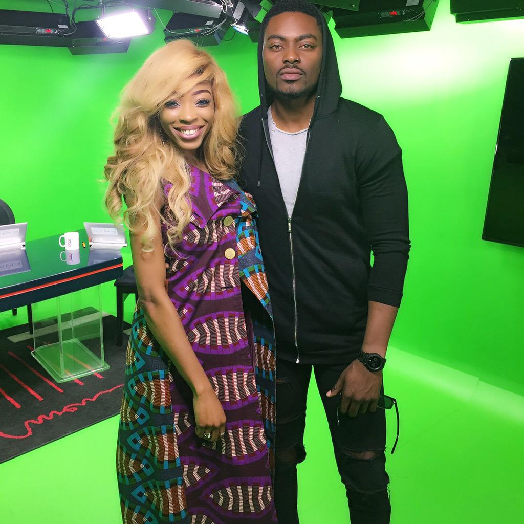 Today on the show we had pretty boy @Tayofaniran who also happens to be my homeboy. Catch a recap on YouTube xo! http://t.co/Ow31JaDV6V