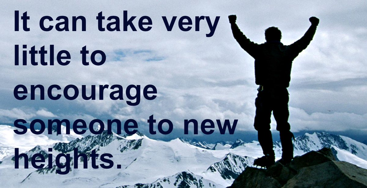 It can take very little to encourage someone to new heights | #quote http://t.co/gAGnee9qHM