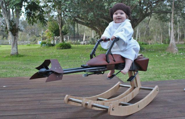 The Dad of the Year Built His Daughter a Custom Speeder Bike Rocking Horse http://t.co/k6nCyQUzsZ / pretty cool http://t.co/OTJ1ZuFyPN