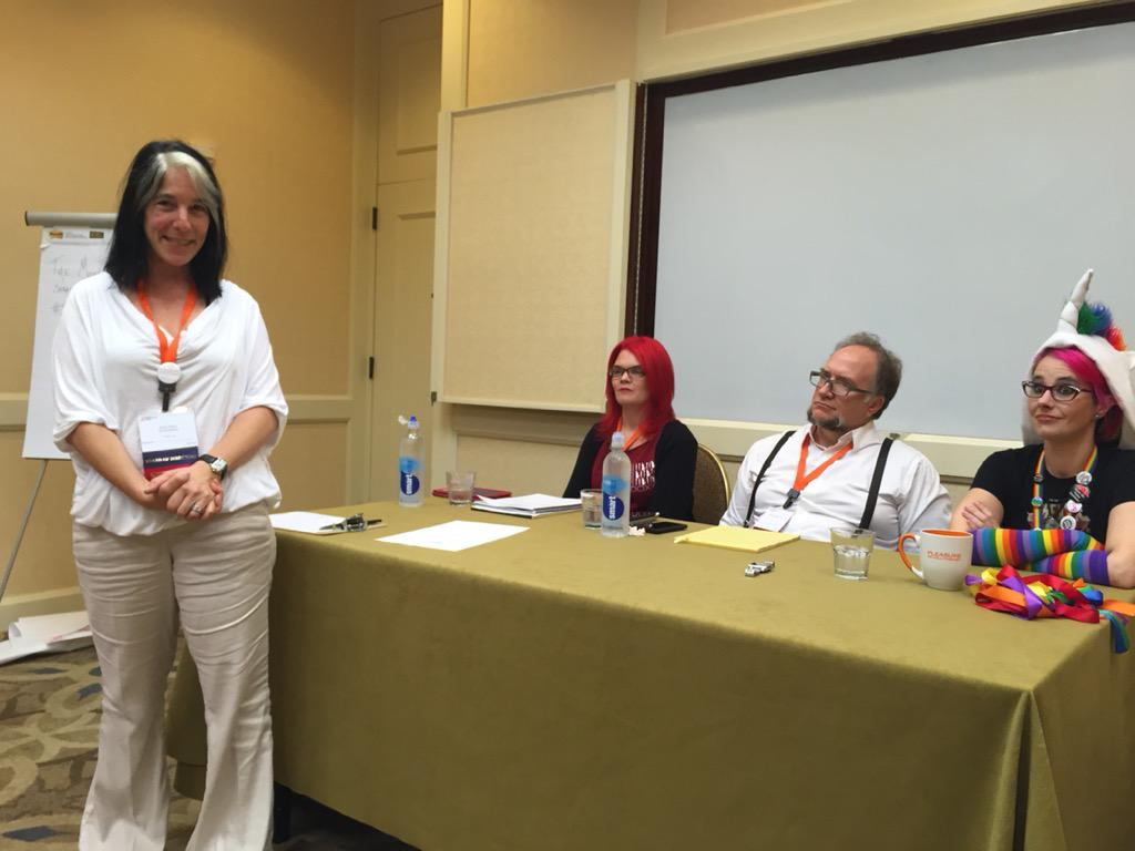 .@MetisBlack introduces @JoEllenNotte @psybiggs @pinkness session on #depression & #sex at @WoodhullSFA #SFS15 http://t.co/EfJ1W09Hjk