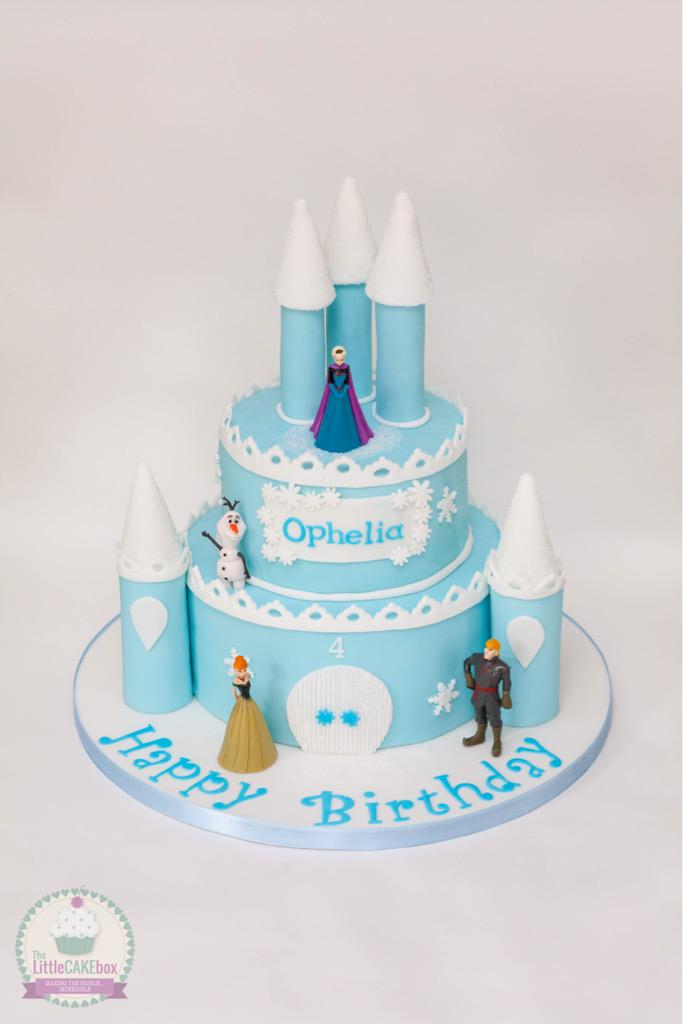 The Little Cake Box on Twitter A sparkly frozen castle cake