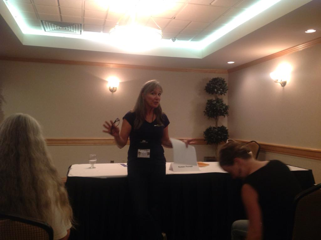 'Crafting Magical Worlds' by @susanjforest has just begun @WWC_Calgary #wwcyyc15, 3 pm http://t.co/U6z3VkC8vz