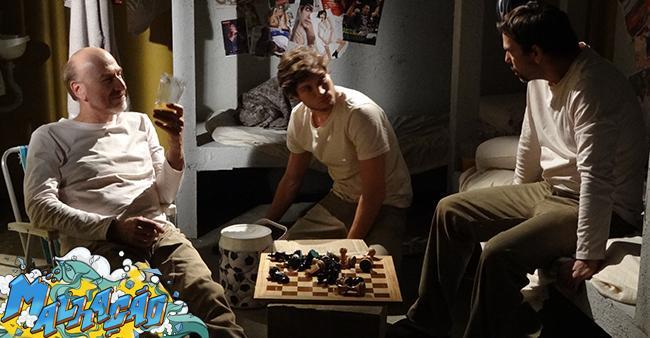 Lobão, Heideguer e Luiz jogando xadrez no xadrez!! Aí sim!! #Malhação #MalhaçãoSonhosLacrou