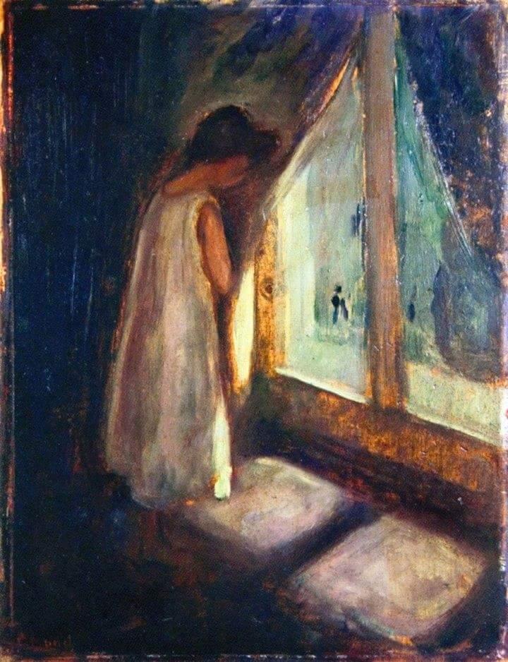 Carmela giagnorio on twitter edward munch ragazza alla for Ragazza alla finestra quadro
