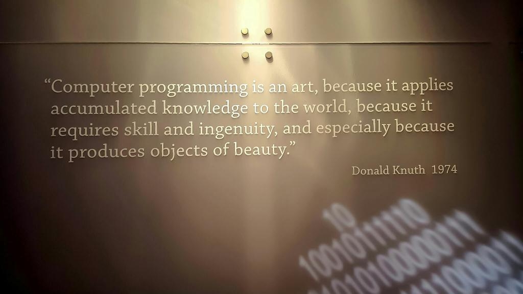 A fine Knuth quote, from the Computer History Museum. http://t.co/rtQpJ81EUG