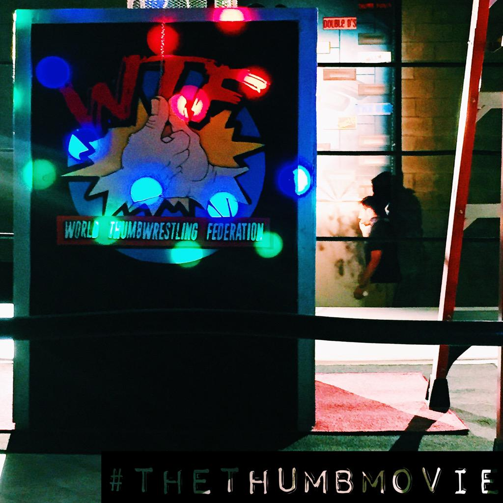 Follow us on #Instagram @TheThumbMovie for some awesome #BTS and production photos! 👍🏻🎬