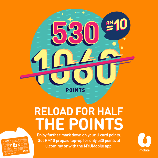 U Mobile On Twitter Get A Rm10 Top Up For 530 U Card Points At Http T Co Mhfyisyawh Or Via Myumobile App Http T Co Sabz7jdmhe